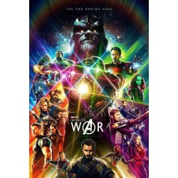 "Plakat The End Begins ""Infinity War"""