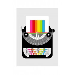 Plakat Typewriter Colorful