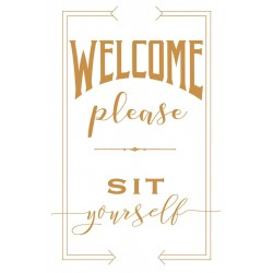 Plakat Welcome please SIT