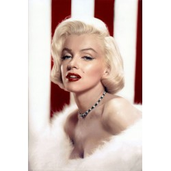 Plakat Marilyn Monroe - USA flag